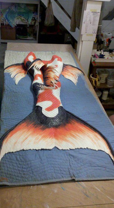 Koi fish mermaid tail or perhaps a merman tail since it for Koi fish tail