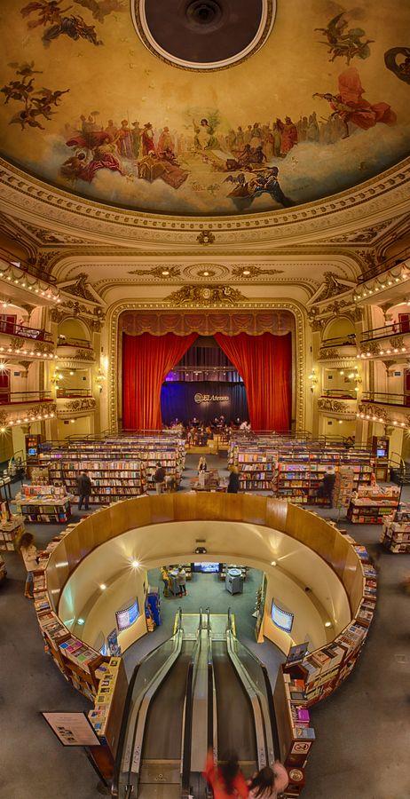 Una de las 10 librerias mas sorprendentes del mundo: El Ateneo, Buenos Aires  www.tecnicas-de-estudio.org                                                                                                                                                      Más