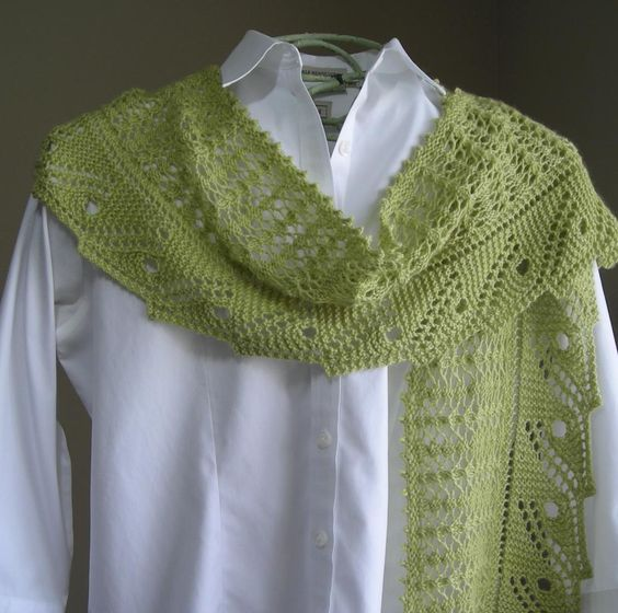 Front Porch Fern Leaf Lace Scarf/Shawl Beautiful, Ferns and Patterns