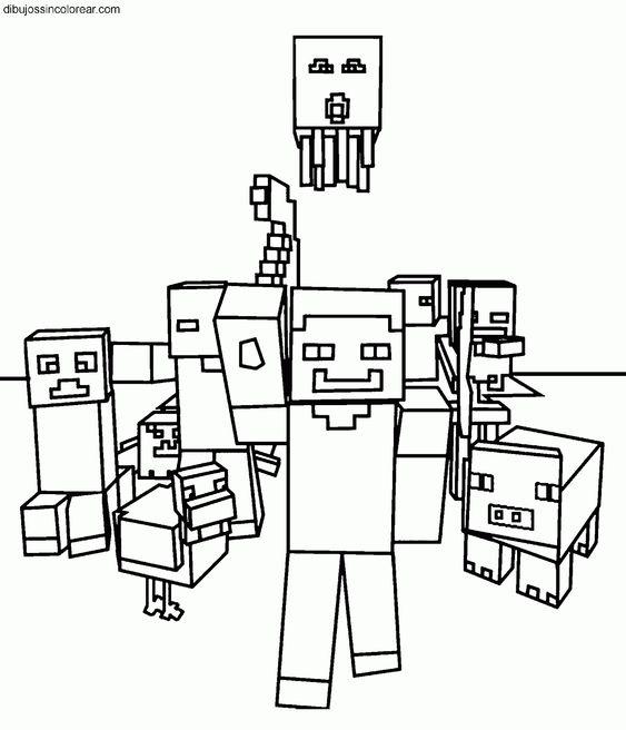 Steve de Minecraft para imprimir y pintar