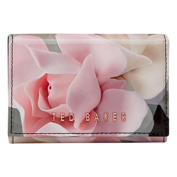 BuyTed Baker Rommi Porcelain Rose Leather Coin Purse, Black Online at johnlewis.com
