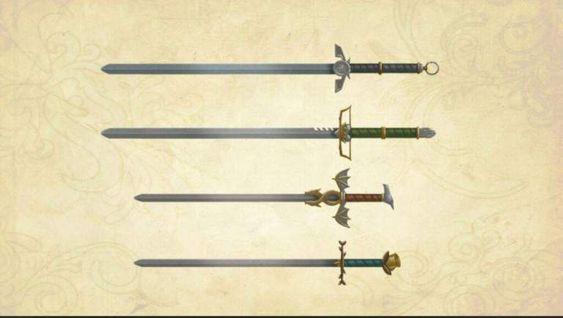 Espadas de acero valyrio, Hielo, Veneno de Corazón, Fuegoscuro y Hermana Oscura, por Andy Bennett