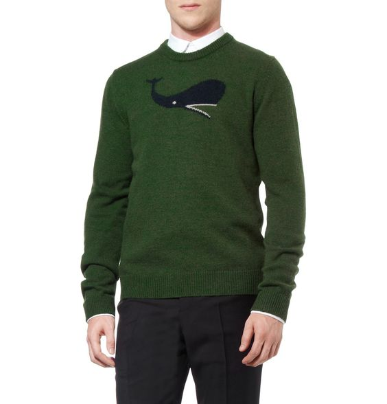 Awwww Jil Sander Whale Intarsia Camel and Wool-Blend Sweater | MR PORTER