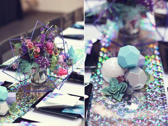 galaxy inspired wedding shoot