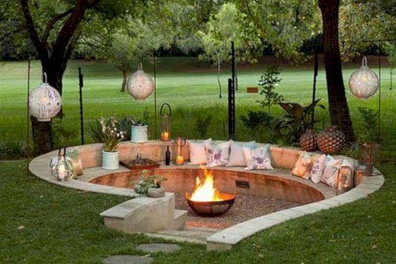 37 Diy Outdoor Fireplace And Fire Pit Ideas Godiygo Com Backyard