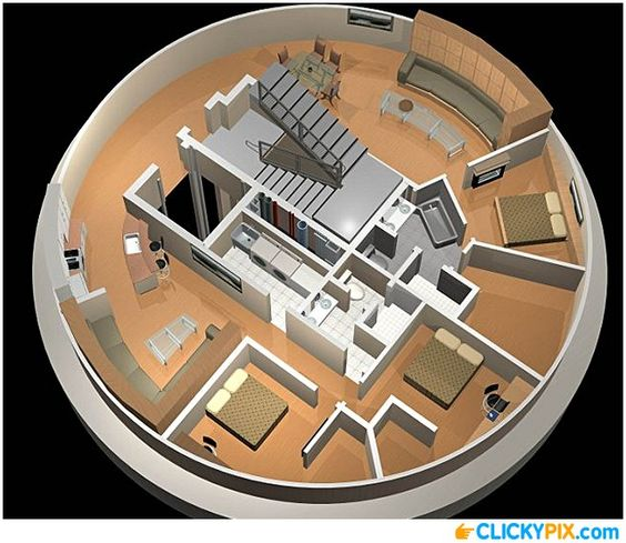 Original design is as a doomsday bunker, but I like the design of the circular house