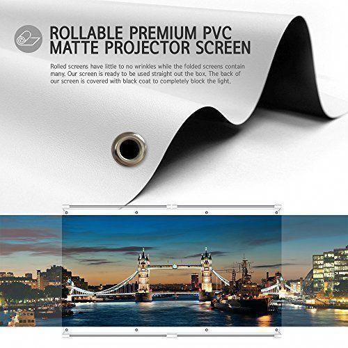 Jaeilplm 100 Inch 2 In 1 Portable Projector Screen Outdoor Indoor Compatible Instant Wrinkle Fr Portable Projector Screen Projector Screen Outdoor Cinema