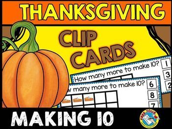 #THANKSGIVING #MATH #TASK #CARDS: #MAKING #TEN (PUMPKIN PIES)