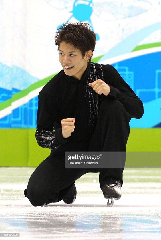 Takahiko Kozuka of Japan reacts after competing in the Figure Skating Men's Singles free program during day seven of the Vancouver 2010 Winter Olympics at Vancouver Olympic Centre on February 18, 2010 in Vancouver, Canada.