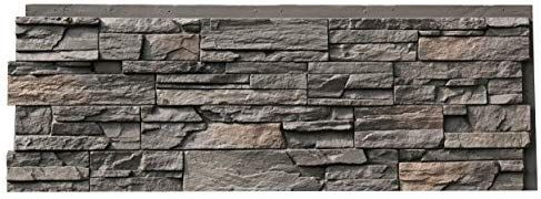 Nextstone Country Ledgestone Faux Polyurethane Stone Panel Appalachian Gray 4 Pack Amazon Com Faux Stone Siding Faux Stone Panels Stone Siding