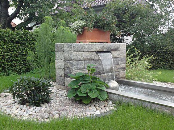 Popular Teiche Bachl ufe Quellsteine und Becken von Koch Garten und Landschaftsbau H Wassergarten Pinterest Quellstein Bachlauf und Landschaftsbau