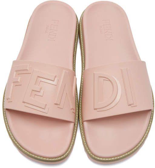 Fendi SSENSE Exclusive Pink Rubber