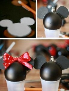 DIY Disney Christmas Ornaments. I need to make for my nephew who loves Mickey Mouse!: