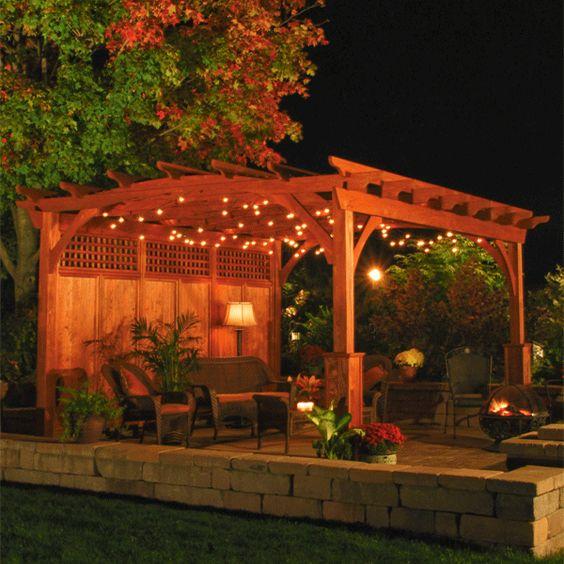 Outdoor Lighting Under Pergola: Lighting, Backyards And Love This On Pinterest