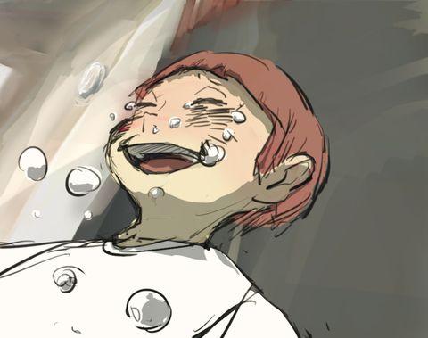 「白鳥沢の赤い幻灯」/「ひふ」の漫画 [pixiv]