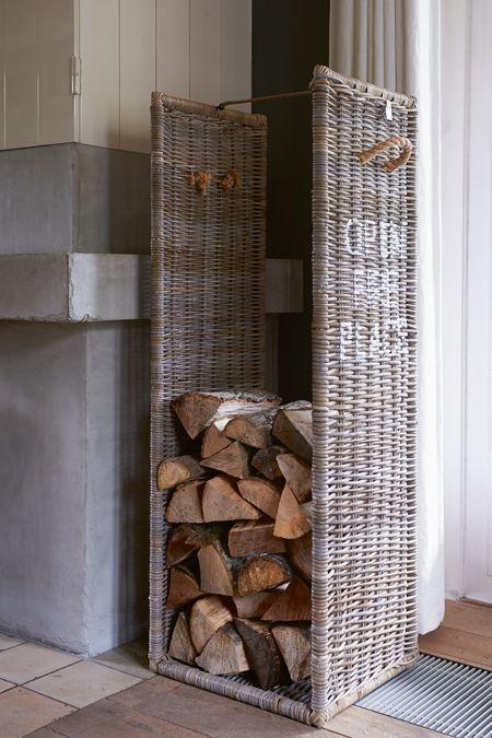 €299,00 Open Fire Place Log Basket L #living #interior #rivieramaison: