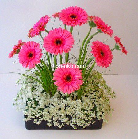 Arreglo floral margaritas buscar con google mi cabeza - Hacer un centro de flores ...
