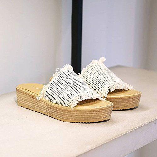 Tony Bianco Ebony Womens Sandals Open Toe Flatforms with Monochrome Upper /& Self Fringing