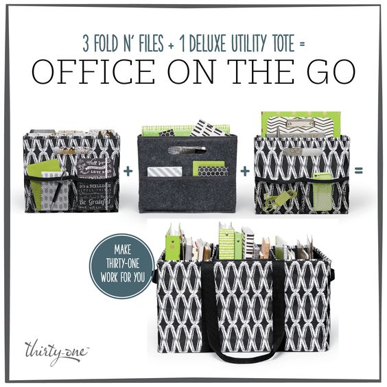 Home and Office organizing is so easy with Thirty-One. New Colors available August 1st!