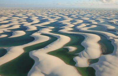 The Lençóis Maranhenses National Park (Parque Nacional dos Lençóis Maranhenses) is located in Maranhão state, in northeastern Brazil.