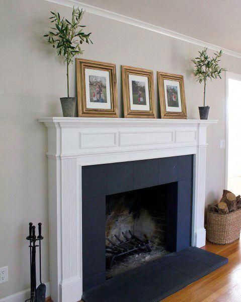 Interior White And Black Designs Painted Fireplace Luxuryhomeinterior Paint Fireplace White Fireplace White Fireplace Mantels