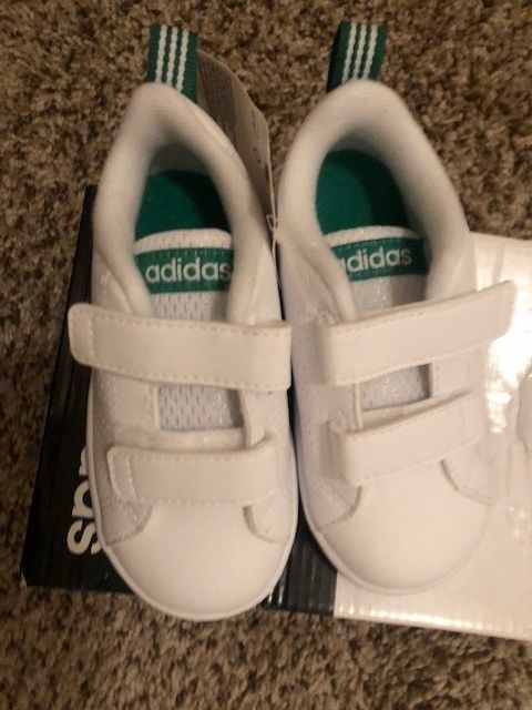Size 6 Adidas Toddler Sneakers White Green Tennis Baby Boy 6k Fashion Clothing Shoes Accessories Babytoddlerclo Toddler Sneakers Sneakers White Sneakers