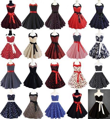 Rockabilly 50er Jahre Kleid Petticoat Polka Dot Leo Pin Up Karneval Abendkleid | eBay