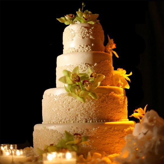 Wedding Cakes Pictures Round Green Orchid Wedding Cakes Cakes