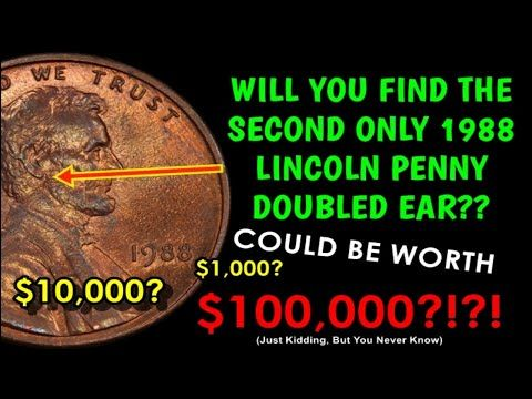 Only One Rare 1988 Doubled Ear Lincoln Penny Has Been Found 10 000 Value Youtube Rare Coins Worth Money Old Coins Worth Money Valuable Pennies