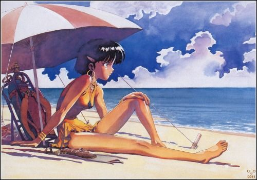nomarai 二次のかわいい女の子の画像下さい 虹萌エロちゃんねる anime images character art blue water
