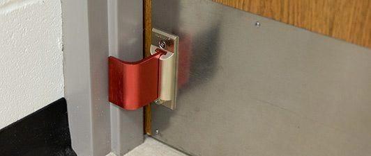 Nightlock Lockdown 2 School Classroom Door Security For Outward Swinging Doors Frontdoor Door Security Devices Security Door Swinging Doors