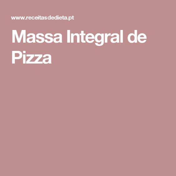 Massa Integral de Pizza