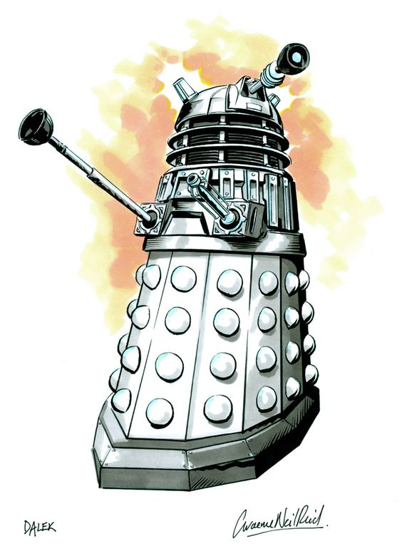 Dalek Ink Sketch by Graeme Neil Reid