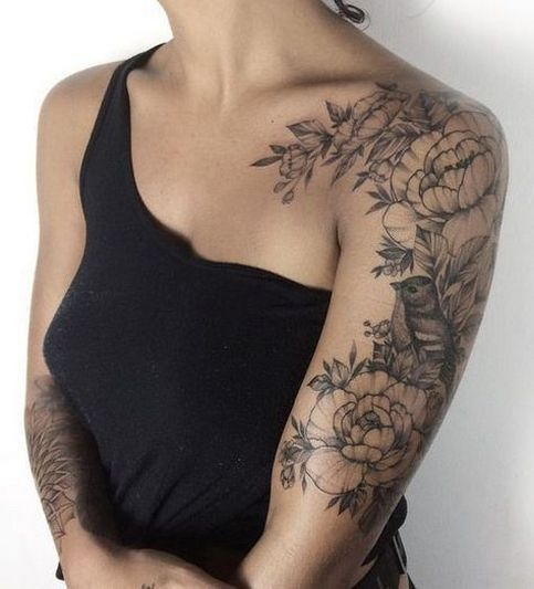 40 Inspiring Arm Tattoo For Women Ideas Half Sleeve Tattoos Designs Arm Tattoos For Women Shoulder Tattoos For Women