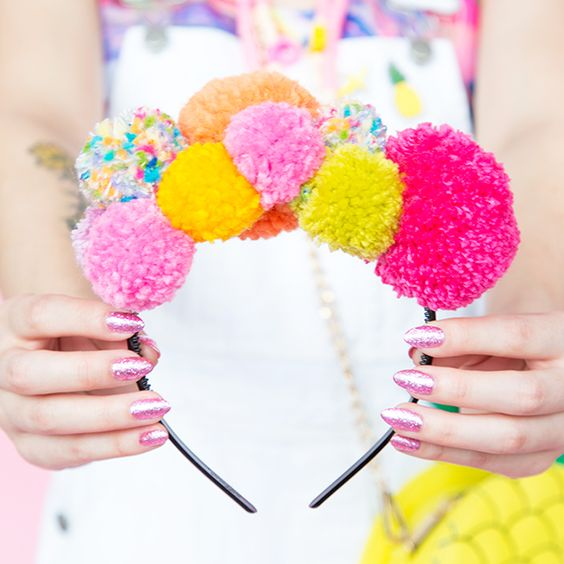 Gear Up for Festival Season With This DIY Pom Pom Headband