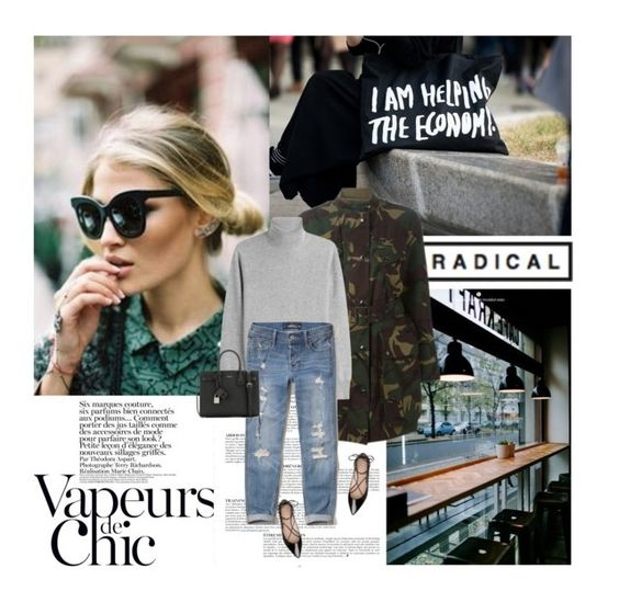 """""""27/09/2016"""" by dunoni ❤ liked on Polyvore featuring Anja, Burberry, Joseph, Hollister Co., Yves Saint Laurent and Kate Spade"""