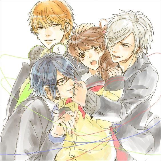 Brothers Conflict - Natsume, Azusa, Tsubaki and Ema
