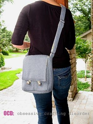"""Messenger Bag Tutorial- There are 2 sizes. The """"regular"""" messenger finishes up around 15"""" wide by 10"""" high and is 3"""" deep. Perfect for binders, clipboards or laptops: The """"mini-messenger"""" is more purse-sized, measuring 9"""" wide, but is still 10"""" tall and 3"""" deep."""