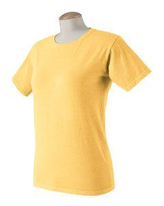 Authentic Pigment Ladies' Tee - Goldenrod, Small