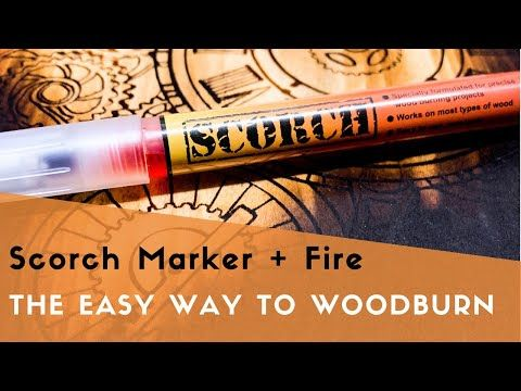 Scorch Marker Is Chemical Wood Burning Pen Apply Your Design With The Marker Heat It Up And Watch The Wood Bu Wood Burning Pen Wood Burning Easy Wood Burning