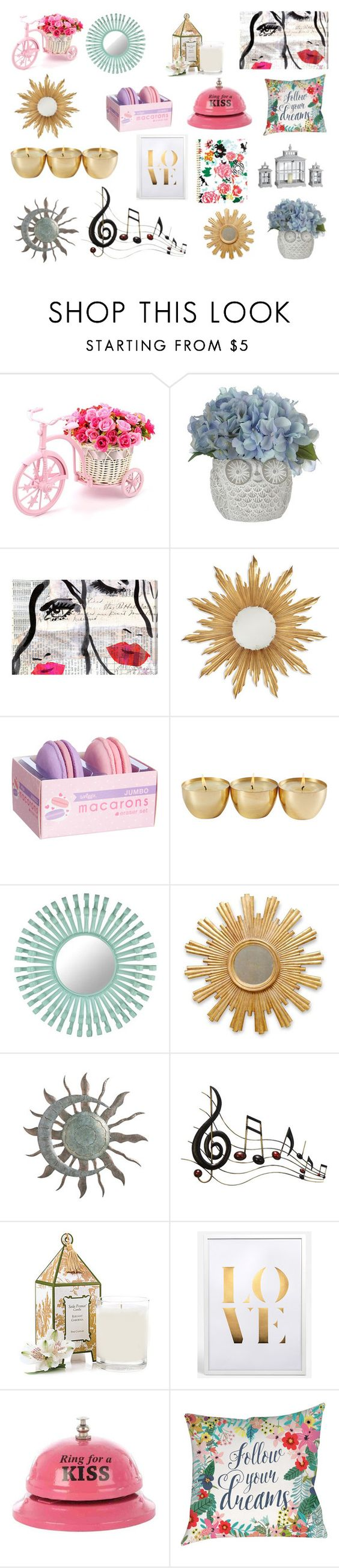 """Decoração"" by marciabackermendes ❤ liked on Polyvore featuring interior, interiors, interior design, home, home decor, interior decorating, Oliver Gal Artist Co., Jonathan Charles Fine Furniture, Florence Broadhurst and Benzara"