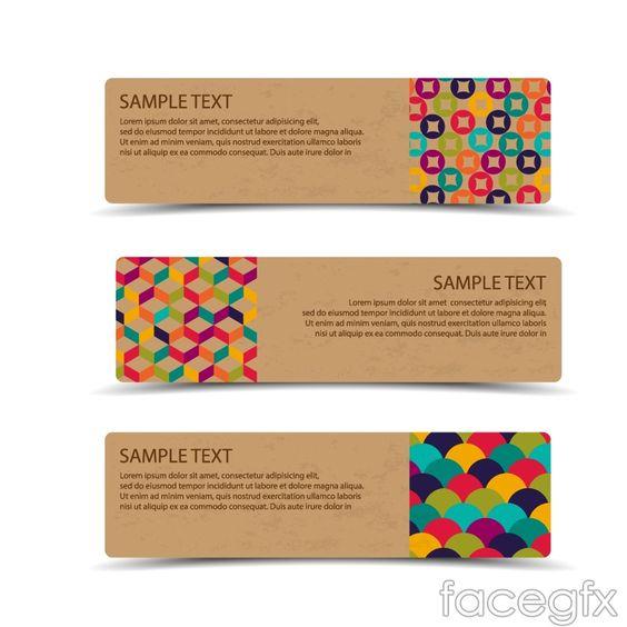Cardboard banner design vector