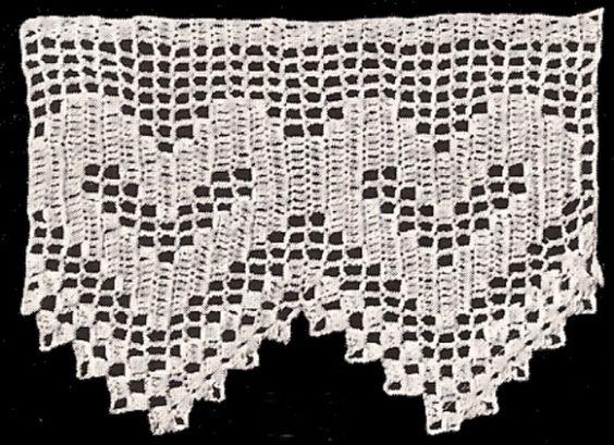 Antique Vintage Crochet Heart Valentine Edging Pattern