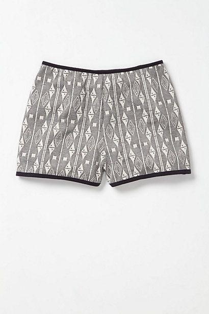 High-Waist Jacquard Lounge Shorts #anthropologie