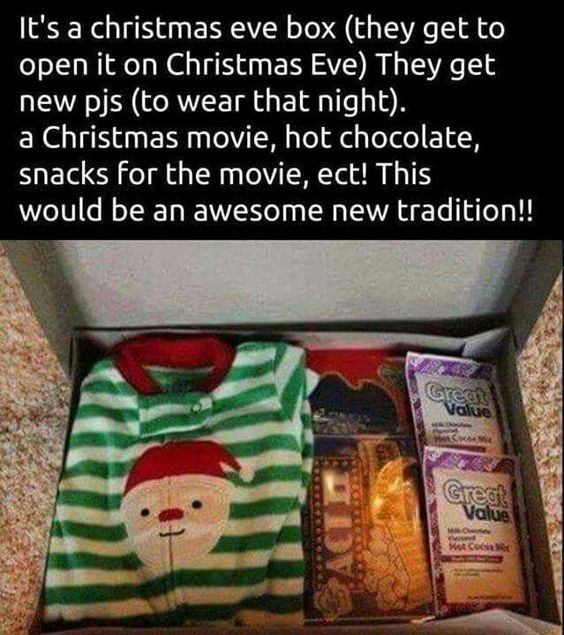 Excellent Christmas Eve Christmas And Christmas Eve Box On Pinterest Easy Diy Christmas Decorations Tissureus