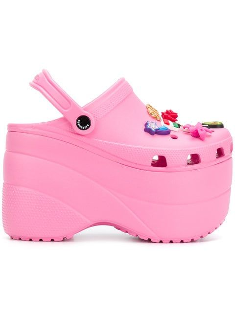 Platform sandals, Pink crocs, Girls shoes