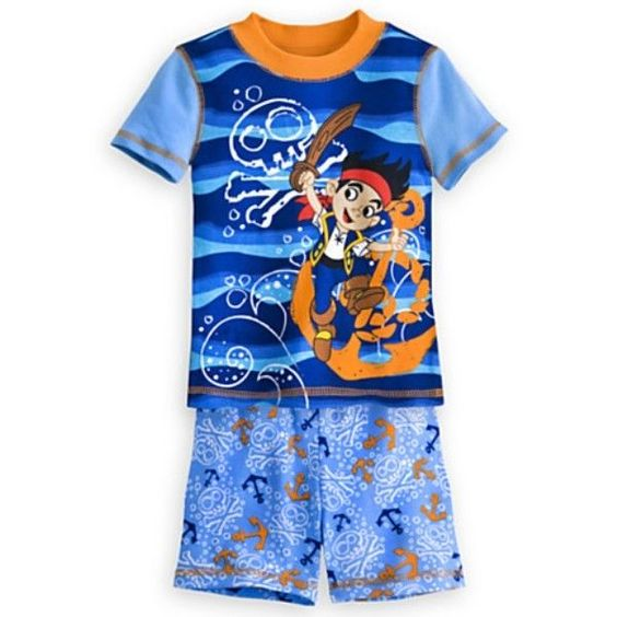 NWT Boys Disney Jake & the Netherland Pirates 2 Piece Pajamas Set - Size 4 #Disney #PajamaSets