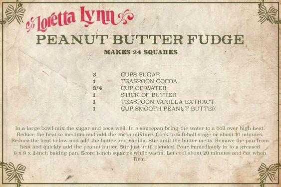 Loretta Lynn Just Shared Her Famous Peanut Butter Fudge Recipe