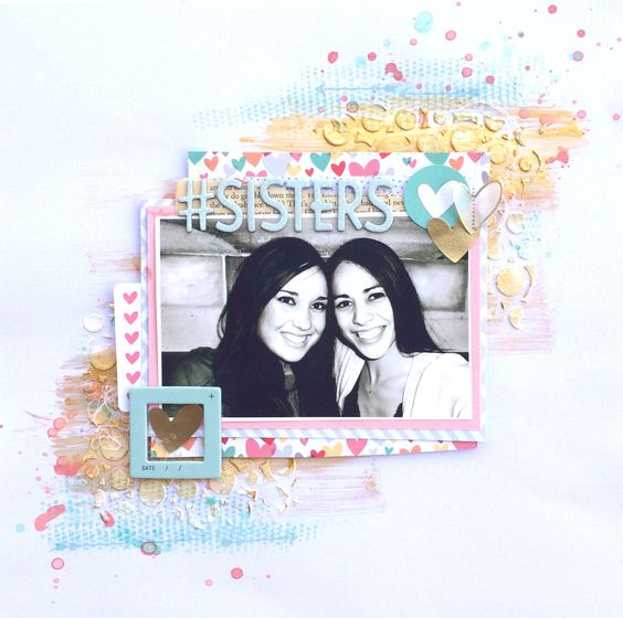 Hey y'all! It's Ashley here to share my 3rd layout with the Hip Kits for February 2014! My inspiration for this layout came from the February challenge mood board and mostly included the amazing co...