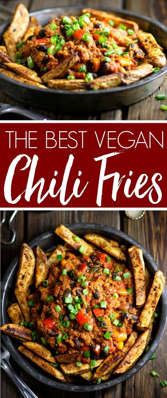 The Best Vegan Chili Fries
